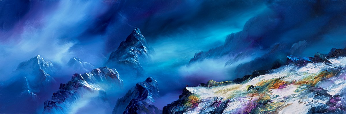 Night Climbing VI by philip gray -  sized 48x16 inches. Available from Whitewall Galleries